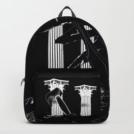 300 Black and White Backpack