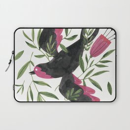 Swallow with Flowers Laptop Sleeve