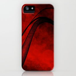 Rouge Crosshatched Wave iPhone Case