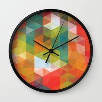 transparent Wall Clocks featuring Transparent Cubism by All Is One