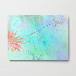 Paint A Dandelion Metal Print