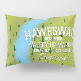 Haweswater, lake district England travel poster Pillow Sham