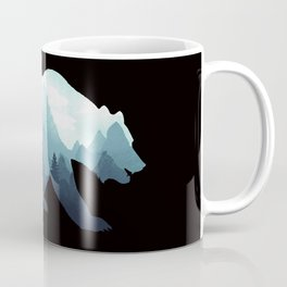 Bear Double Exposure Grizzly Surreal Wildlife Animal Coffee Mug