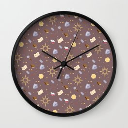 Cleric Pattern Wall Clock