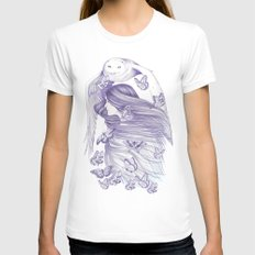Peace Of Mind White Womens Fitted Tee MEDIUM