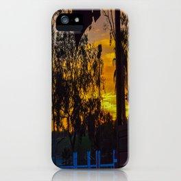 Surf City Equestrian Sundown iPhone Case