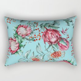 King protea flowers watercolor illustration Rectangular Pillow