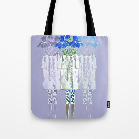 Iris Illustration Tote Bag