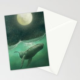 The Whale & The Moon Stationery Cards