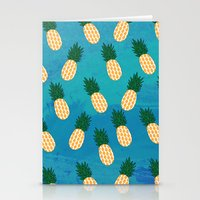 pineapples Stationery Cards featuring Pineapples  by Ashley Hillman