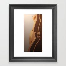Simple Curves Framed Art Print
