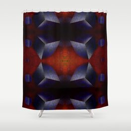Chaotic Cubes Shower Curtain