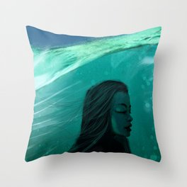 Ocean Girl Throw Pillow