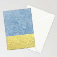 Royal blue and gold marble Stationery Cards