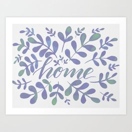 Watercolor home foliage – lilac Art Print