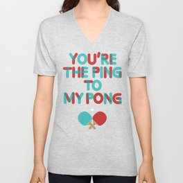 Love is like ping pong Unisex V-Neck