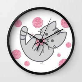 Cat Fun Time Wall Clock