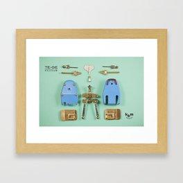 Break up a TE-GE Framed Art Print
