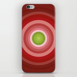 Beetroot Pink Circles iPhone Skin