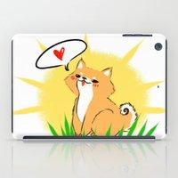shiba inu iPad Cases featuring Guapo the Shiba by Corpus Ren