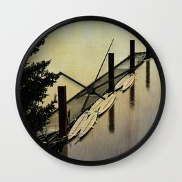 Rowing on the River Wall Clock