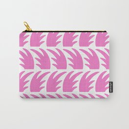 Tropical Wave Pattern Pink Carry-All Pouch