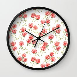Rosen Rot Wall Clock