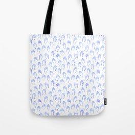 Blue Hands Tote Bag