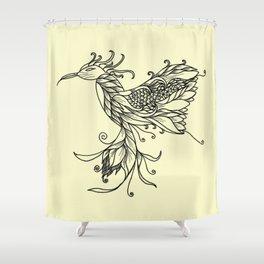 Kolibri Lineart Cream Shower Curtain
