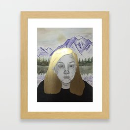 Mountain Gal Framed Art Print