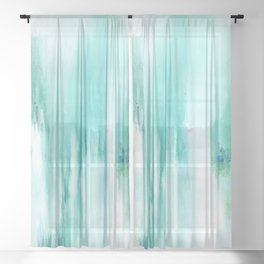 Lost in Silence 1a  by Kathy Morton Stanion Sheer Curtain