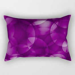 Dark intersecting purple translucent circles in bright colors with a blueberry glow. Rectangular Pillow