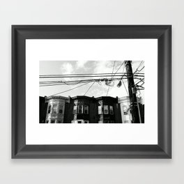 NORTH PHILLY. Framed Art Print