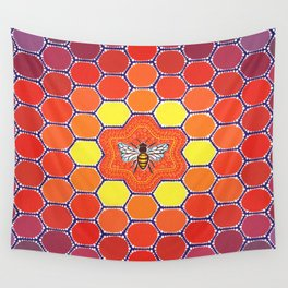 Bee Sacred Geometry Wall Tapestry