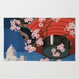 Tokyo, travel poster, 1930s Rug