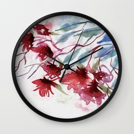 Weeping Red Wall Clock