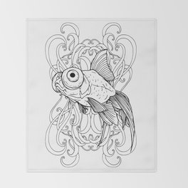 Rising Goldfish Throw Blanket