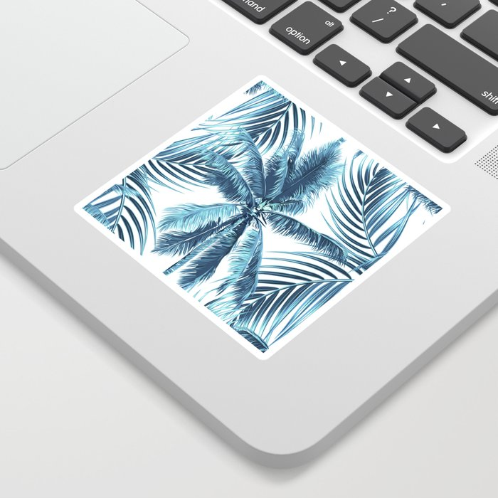 South Pacific palms II - oceanic Sticker