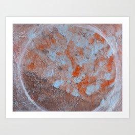 Circle and textures Art Print