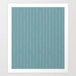 Broken Lines // Blue Green Art Print