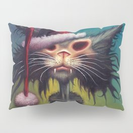 Zombie Cat Christmas Pillow Sham