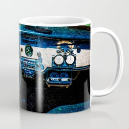 Interior Of A Luxury Car Blue Coffee Mug