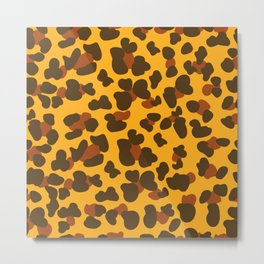 Gold Leopard Print Metal Print