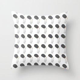 White britsh birds Throw Pillow