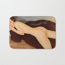 """Amedeo Modigliani """"Reclining Nude from the Back (Nu couché de dos)"""" Bath Mat"""