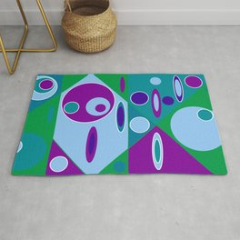 Circles and Ellipses Rug