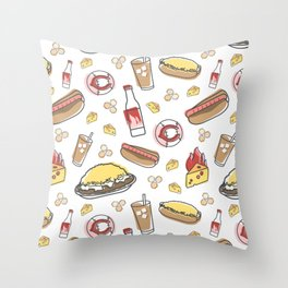 Skyline Chili Pattern Color Throw Pillow