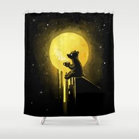 freeminds Shower Curtains featuring Honeymoon by Freeminds