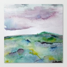 """""""337"""" abstract watercolor landscape Canvas Print"""