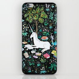 The Unicorn is Reading iPhone Skin